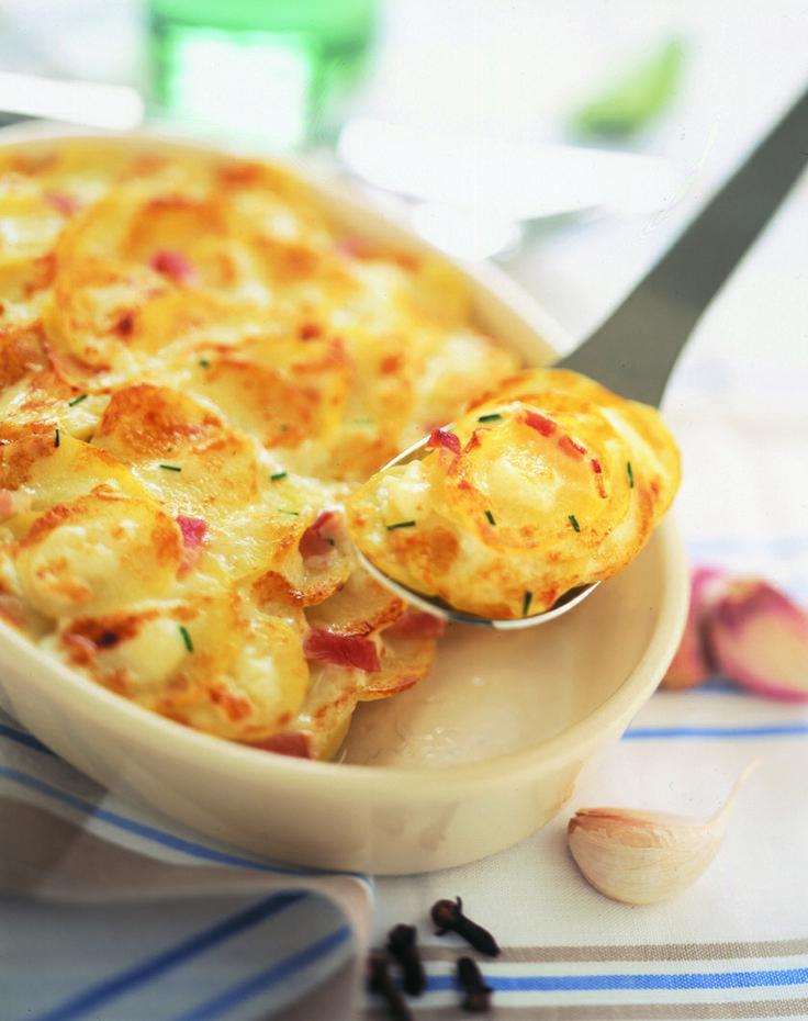 #recette : gratin de pommes de terre au #fromage de #chevre. #Soignon