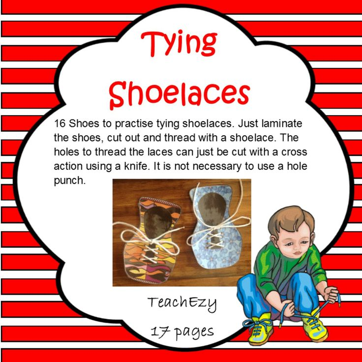 A great way to help teach your child how to tie their laces.