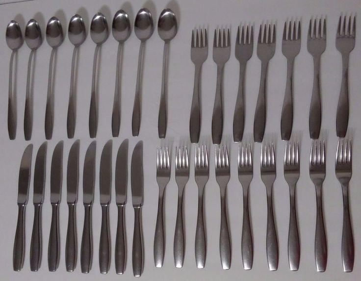 Ronosil CMS Germany 18/12 Stainless 1950's Carl Mertens Knives Forks Tea Spoons #RonosilCarlMertens