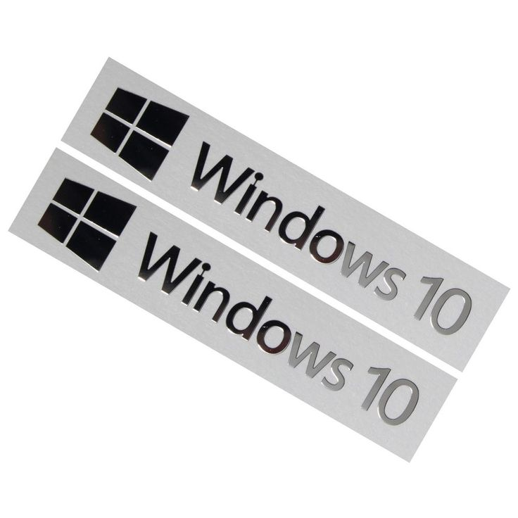 2x windows 10 badge logo chrome metal sticker for computer laptop pc 50mmx10mm