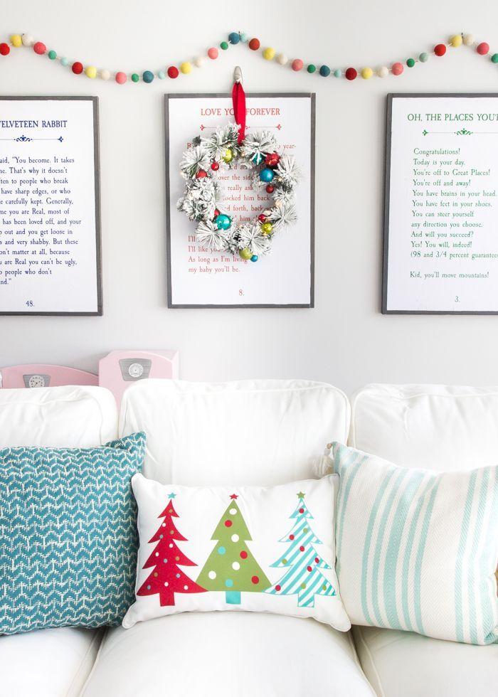 Whimsical Retro Christmas Playroom | http://blesserhouse.com - How to decorate with a whimsical retro Christmas theme using colorful decor from Kirkland's Christmasland line plus ideas for styling a fun playroom. #sponsored