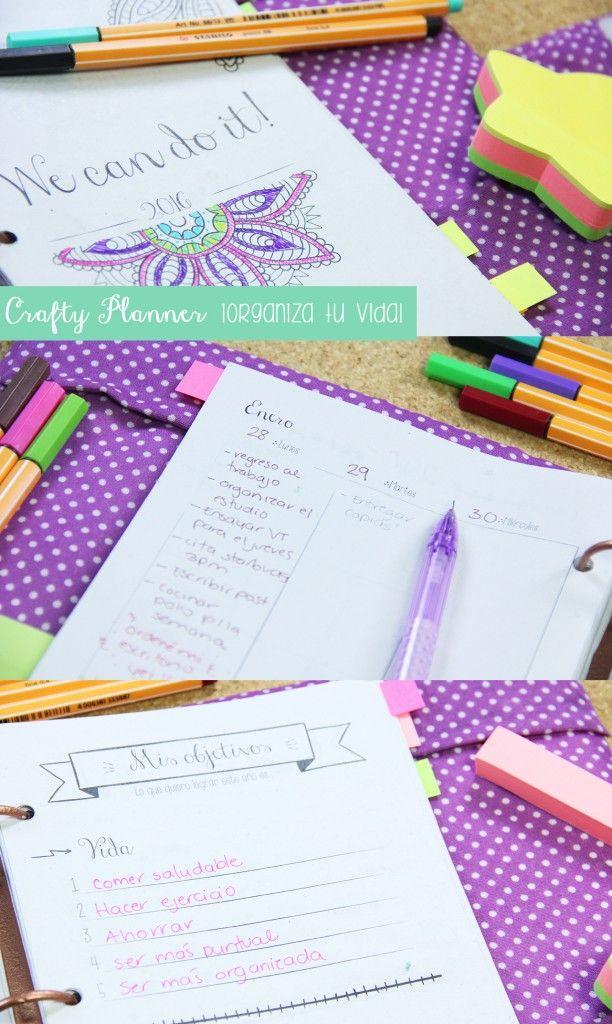 Agenda Crafty Planner para sacar tu lado creativo :)