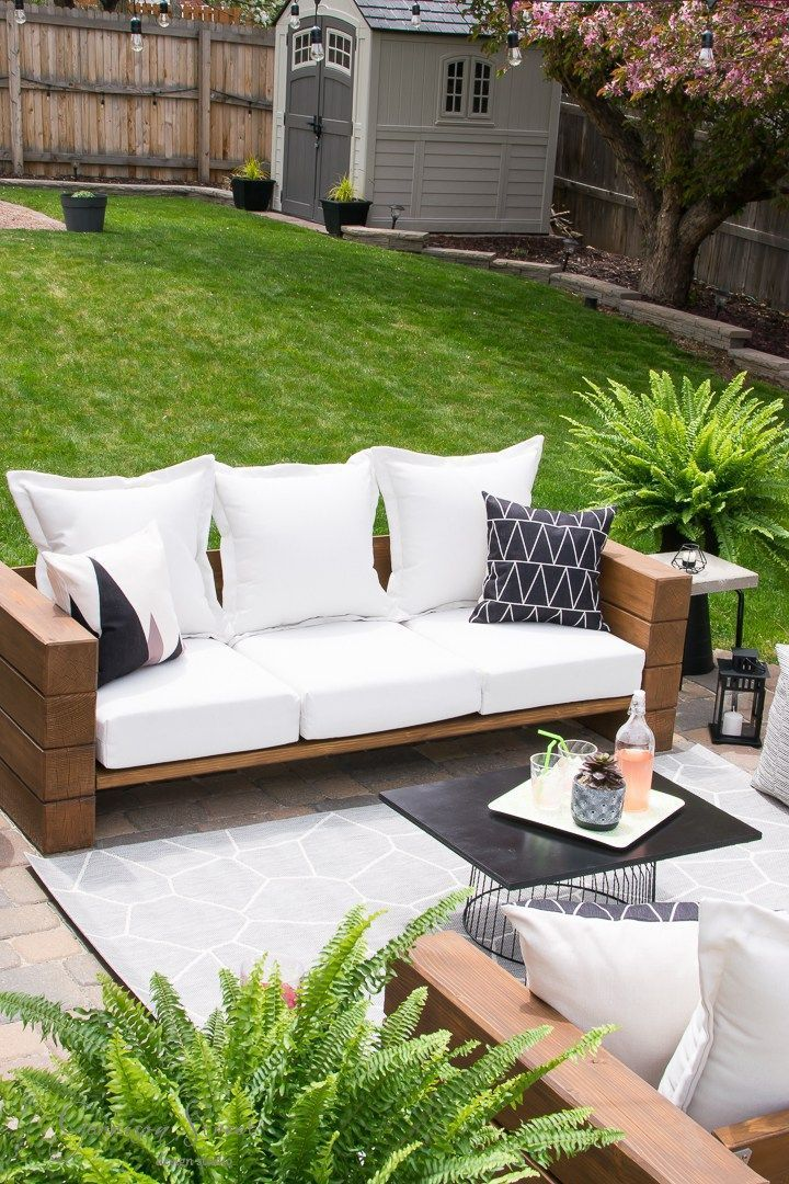 Superior Casual Modern Backyard Patio Reveal | ©️GarrisonStreetDesignStudio | Outdoor  Furniture | DIY | Wood | Rustic | Modern | Easyu2026 | Patio Tables And Chairs  In ...