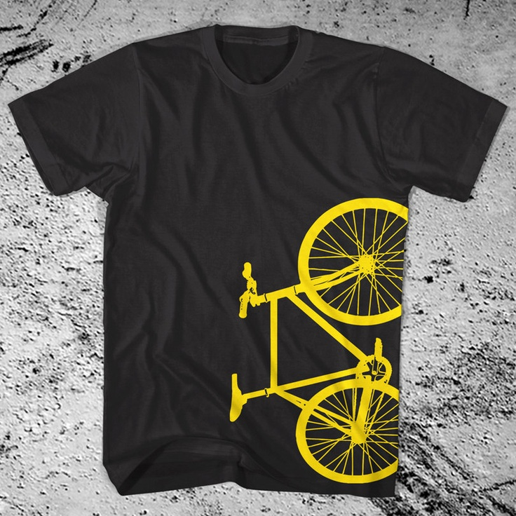 New Fixie Bike Black T-Shirt Fixed Gear Bicycle American Apparel.