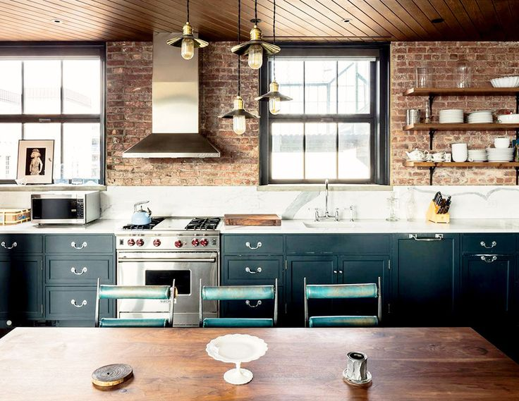 25 best ideas about exposed brick kitchen on pinterest for Kitchen designs with exposed brick