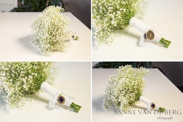 Bruiloft DIY - Bruidsboeket van Gipskruid - Sanne van de Berg Bruidsfotografie