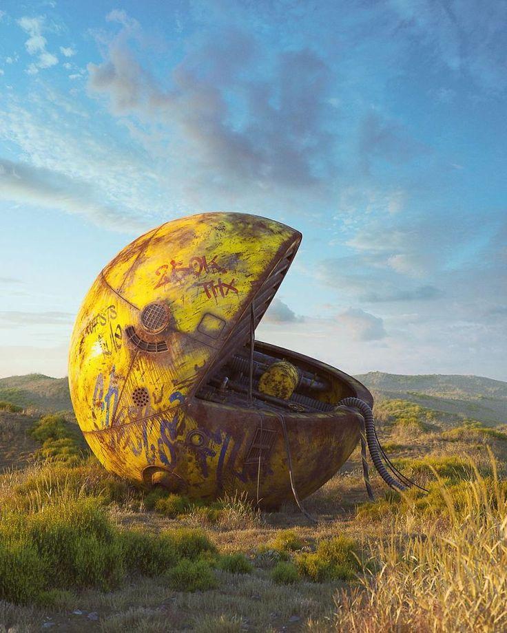 En Rébublique Tchèque, l'artiste Filip Hodas réalise des oeuvres d'art post-apocalyptiques qui revisitent les symboles de la pop culture.