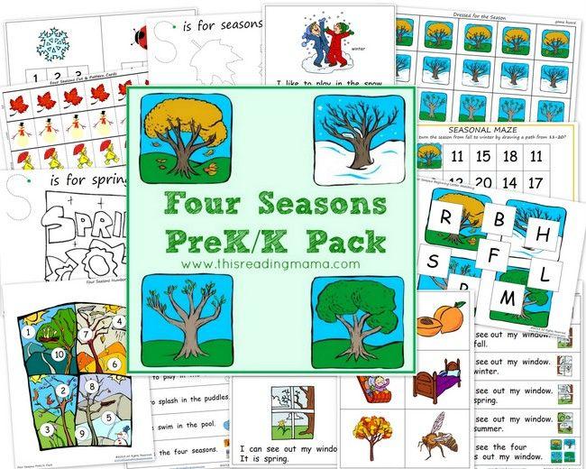 The Four Seasons PreK/K Pack {FREE}