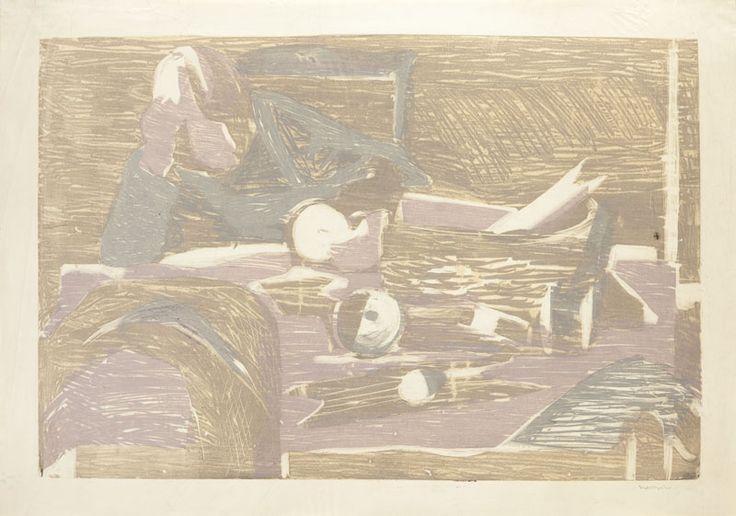 Adam Marczyński (1908-1985) Postać monotypia/bibuła, 51,5 x 73,5 cm
