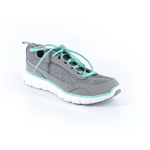 Skechers Sneakers (€26) ❤ liked on Polyvore featuring shoes, sneakers, grey, gray shoes, gray sneakers, skechers footwear, skechers sneakers and grey sneakers