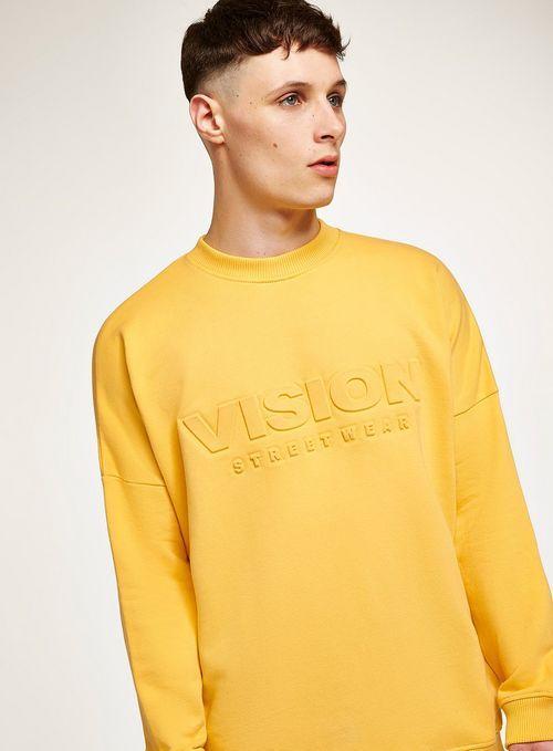 Men's Clothing Hot Hip Pop Style Back Letter Print Oversized Hoodie Yellow Streetwear Oversized Drop Shoulder Hoody Cool In Neon Yellow