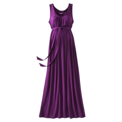 Liz Lange® for Target® Maternity Pleated Maxi Dress - Plum $34.99 (no - I am not preggo - but sometimes maternity clothes hide belly blunders, lol!)