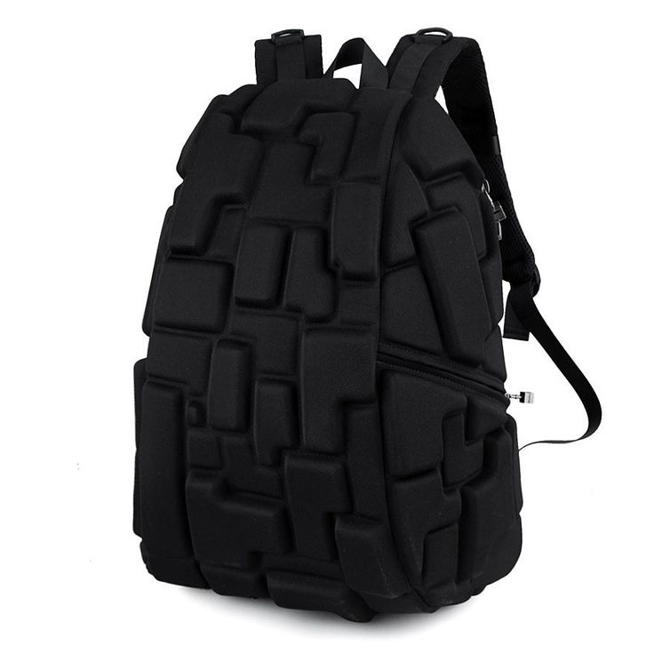 Modern Harajuku Colorful or Solid Black Fashion Design Sport-Style Backpack 2 Colors
