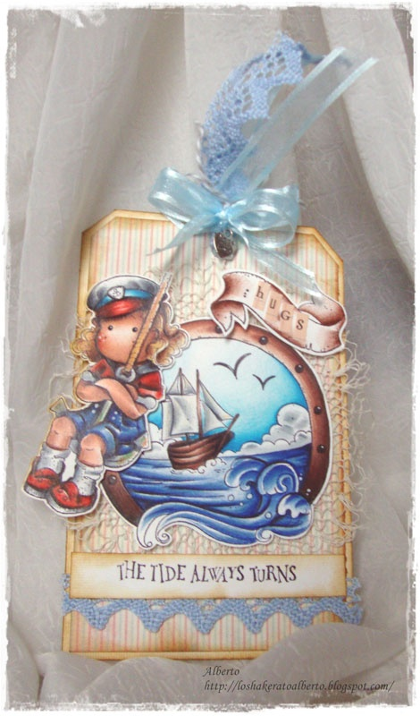 """Timbroscrapmania Stamping Challenge #48 """"Tag, Heart & Lace"""". Open until June 3d, 2012"""