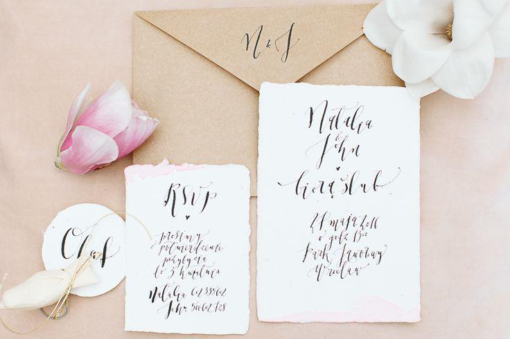 'Magnolia's dream'  invitations by HELLO calligraphy .Małgosia Małecka. foto by Elena Matiash