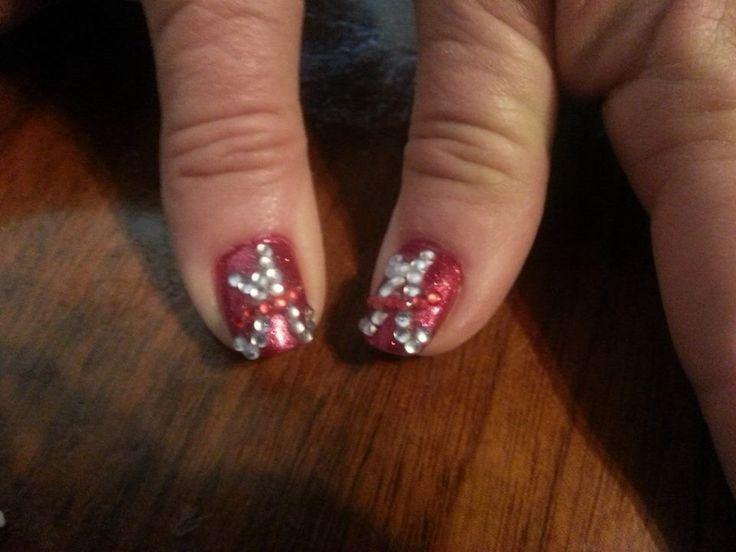 Alabama football nails by Shannon