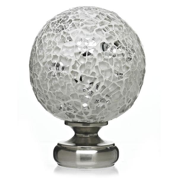 Wilko Mix Match Bologna Finial Glass Clear Satin Silver Effect