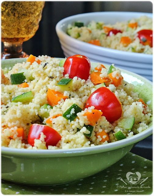Cuzcuz marroquino com legumes