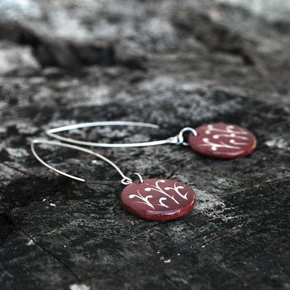 Ceramic earring colorful jewelry  romantic jewelry by Brekszer