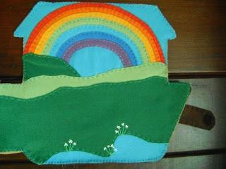 Arte Lúdica: LIVRO DE FELTRO A ARCA DE NOÉ: Art Lúdica, Books, Pretty Rainbows, Noah, Quiet Books, Felt To, Felts, Arte Lúdica, Ark