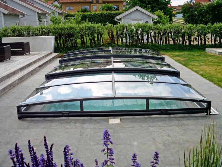 čisté linie tvoří konstrukci bazénového zastřešeni VIVA
