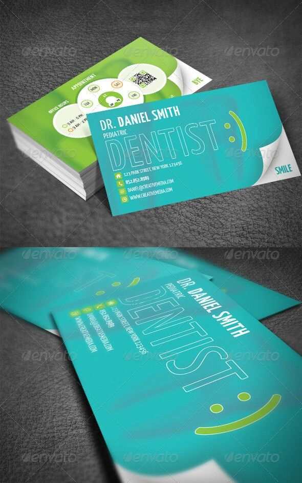 Dental busines card dentist