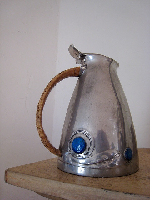 Archibald Knox: Pewter Jug from his 'Tudric' range for Liberty ......via mahala knight