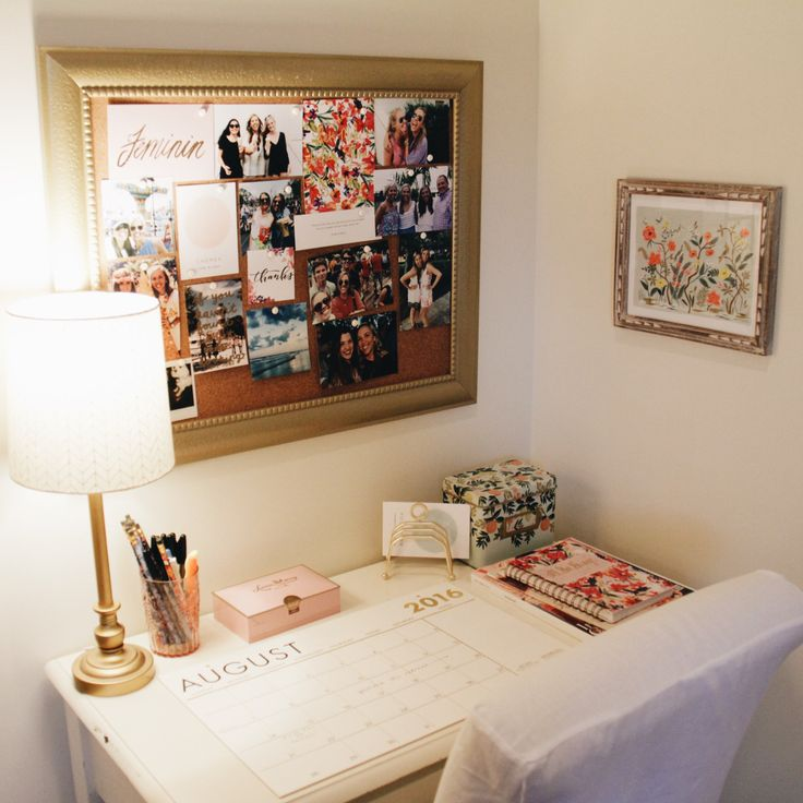 "katherinesmclean: "" Workspace + the rest of my room on the blog! """