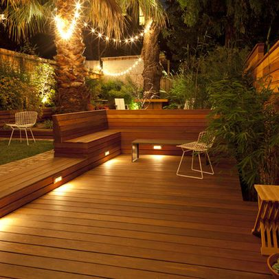 Landscape Deck Design, Pictures, Remodel, Decor and Ideas - the lighting!!!