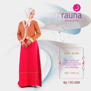 Gamis Rauna Model RK-008 Merah