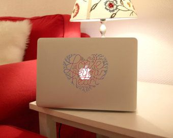 macbook MacBook calcomanía pro calcomanías del corazón macbook macbook air calcomanía piel las etiquetas etiqueta pro macbook calcomanías adhesivo vinilo mac Apple Mac Decal