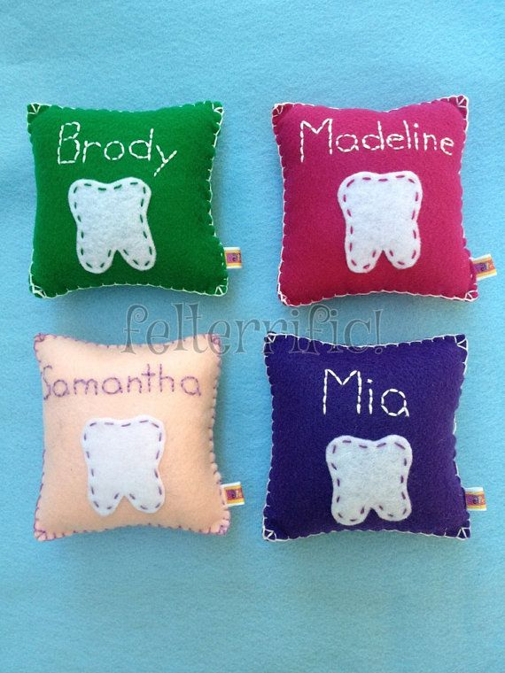 Handmade Felt Embroidered Name Tooth Fairy Pillow by felterrific & 62 best Tooth pillows images on Pinterest | Tooth fairy pillow ... pillowsntoast.com