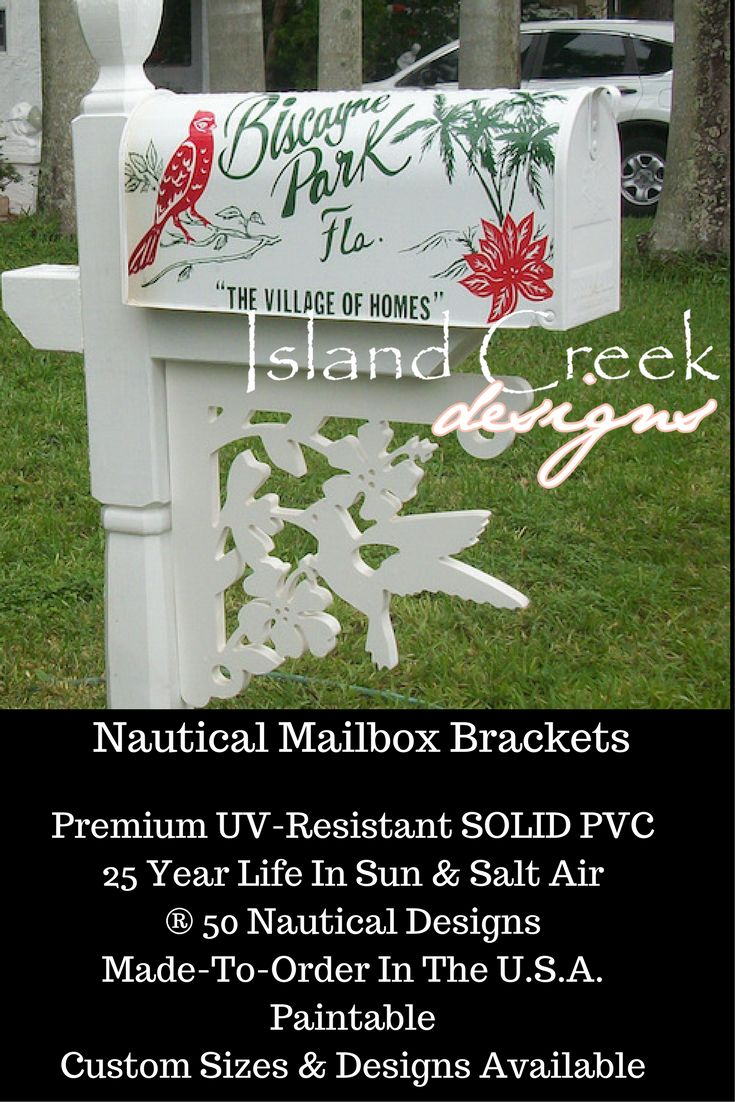 Tropical Hummingbird In Hibiscus Decorative Mailbox Bracket. ® Blue Marlin  Decorative Mailbox Bracket. Mailbox Makeover Awesome.