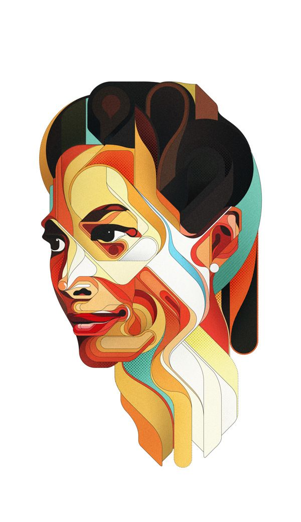Portraits by Charles Williams, via Behance