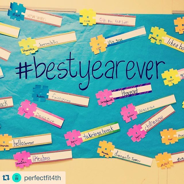 This is so cool- students come up with #endoftheyear hashtags! Brilliant #teaching idea from @perfectfit4th
