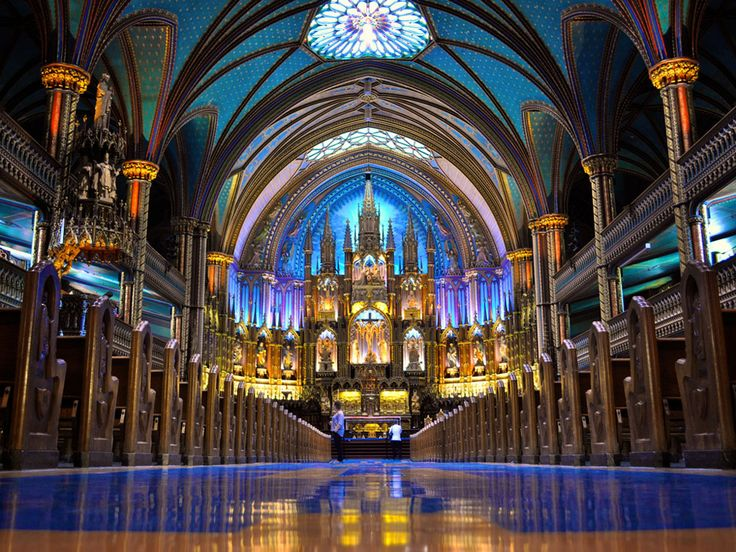 Montreal Notre Dame Basilica Interior Full 2