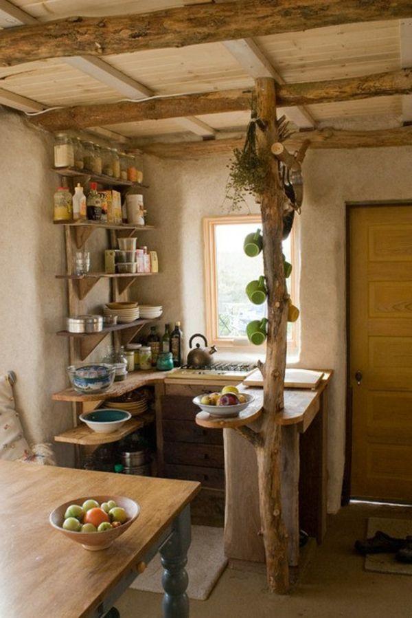 Comment amenager une petite cuisine ? - mini-cuisine-campagne-deco-design-bois