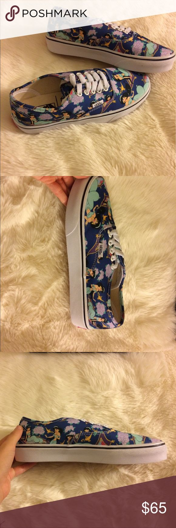 Princess Jasmine Disney Vans This gem has been sitting in my closet for far too long! This particular style is no longer made! Though I love them, they are too big for me. Brand new, never worn, and comes with the box. Hopefully will someone will love them as much I do and be able to wear them too 😂 Vans Shoes Sneakers