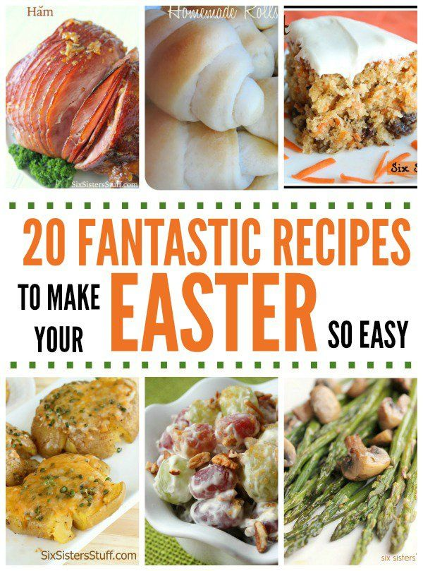 20 Fantastic Recipes for Easter Dinner | Six Sisters' Stuff | Bloglovin'