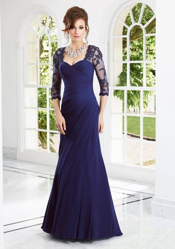 Style EZYZF Chiffon/Lace Dress  Colors Available: Navy, Periwinkle, Lavender, Black. Sizes Available: 2-26*  *Please refer to the VM size chart.
