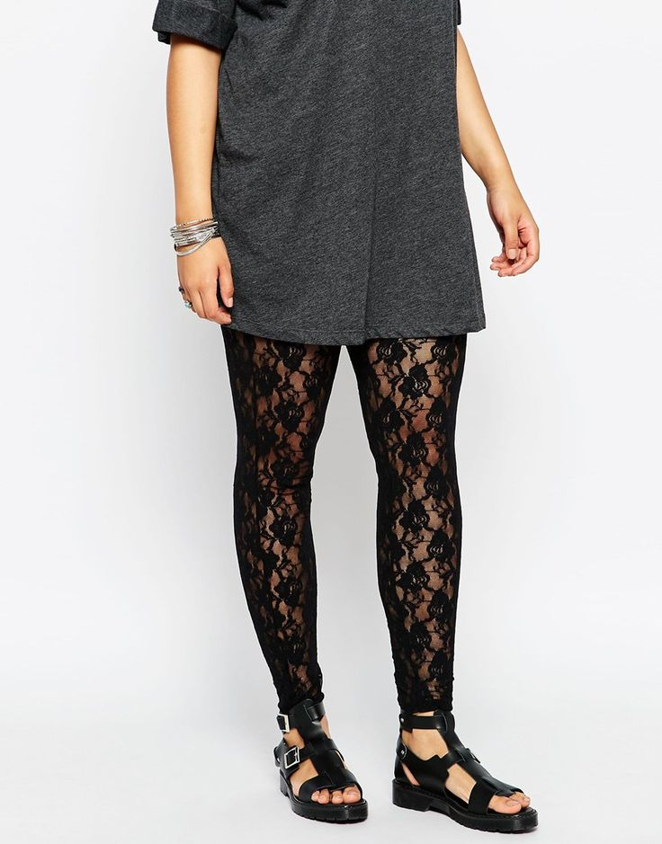 Image 4 of ASOS CURVE Legging in Lace