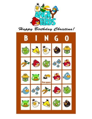 AngryBird Bingo