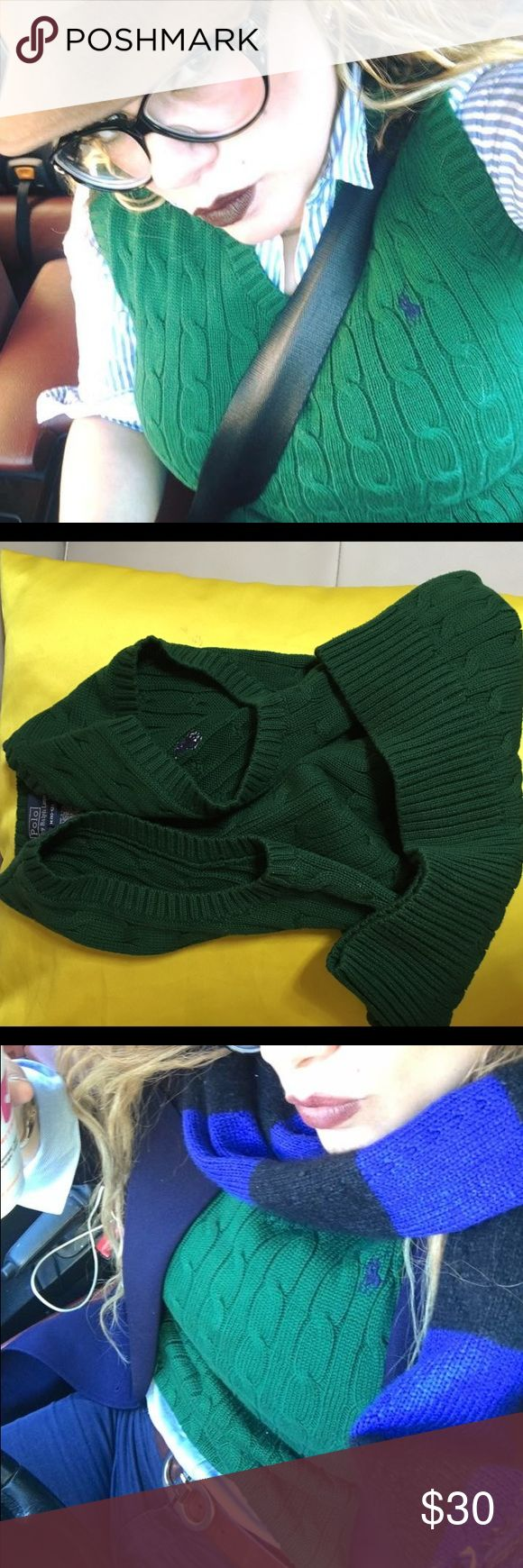 Ralp Lauren sweater vests Ralp Lauren Sweater vest. Perfect condition like new. Is 10/12. Like small woman Ralph Lauren Tops