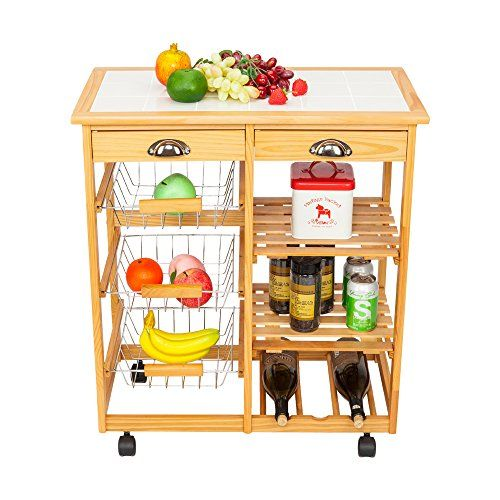 Rolling Drop Leaf Kitchen Dining Room Storage Rack Trolley Cart Island White Tile Top Table Wi Kitchen Island Storage Storage Cart With Drawers Kitchen Storage