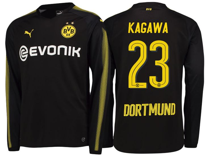 Borussia Dortmund 2017-18 LS Away Shirt shinji kagawa