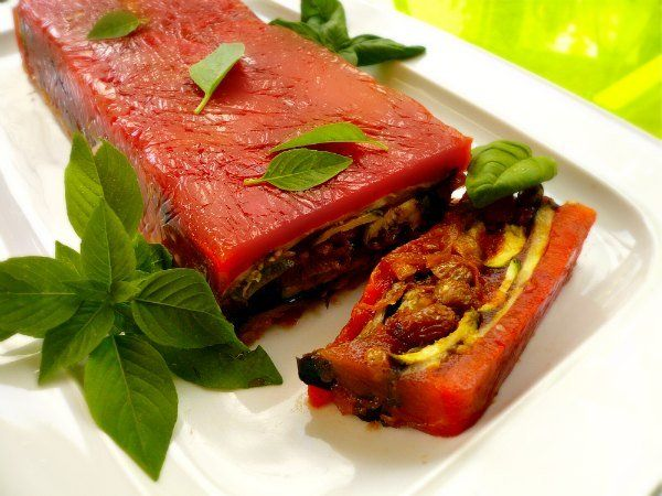 vegetable red terrine