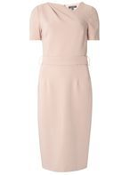 Womens **Tall Blush Asymmetric Pencil Dress- Pink