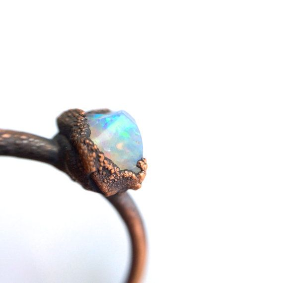 Opal engagement ring | Raw opal stone ring | Rough opal ring | Australian opal Jewelry | Fire opal jewellery | Australian fire opal ring