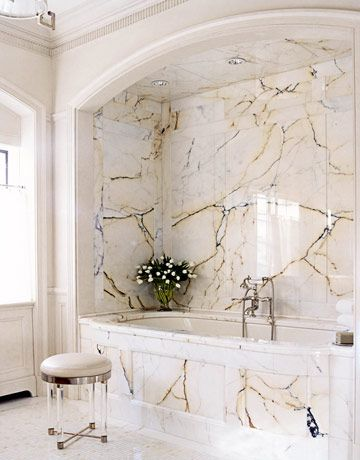 Beautiful! Love the elegant lines and marble look.