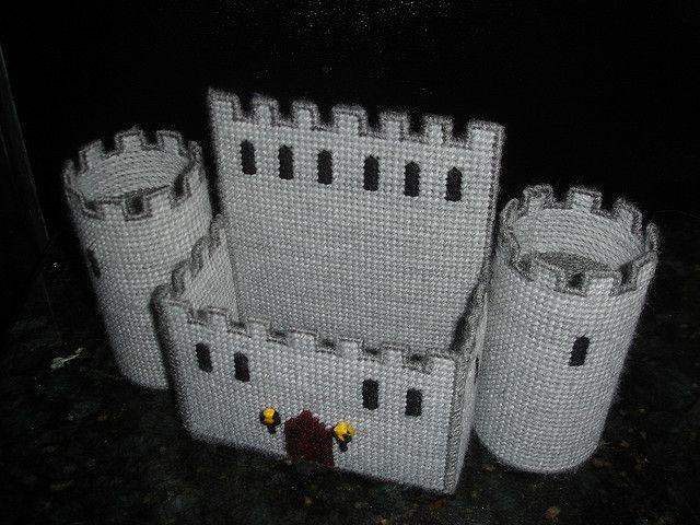Plastic Canvas Castle Napkin Holder Empty   Flickr - Photo Sharing!